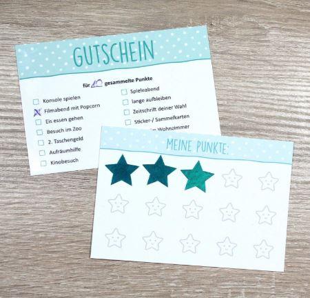 Belohnungskarten, Gutscheine, Sternchensticker und eine Aufgabenliste so motiviere ich meine Kinder